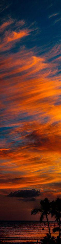 maravilhoso pôr do sol em Natal, Rio Grande do Norte, Brasil