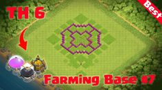 Clash of Clans - TH6 Defense   CoC Town Hall 6 Farming Base Layout Defen...