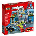Build the LEGO® Juniors Batman™: Defend the Batcave set with Batman™, The Joker, Robin, Easy to Build Batmobile, catapult and more!