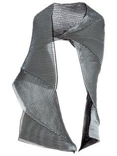 Would You Wear Issey Miyake's Avant Garde Metallic Scarf?