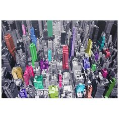 Oriental Furniture Colorful New York Canvas Wall Art - 39.75 x 59