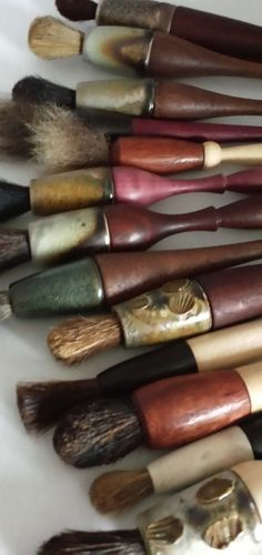 hand made paint brushes by Troy Bungart