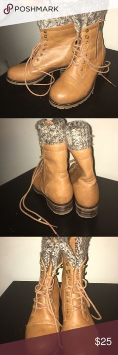 combat boots combat boots with sweater material Shoes Combat & Moto Boots