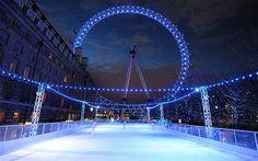 London Eye ice skating