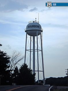 Water Tower. BOURBON, MO on our way to Meramec Farms to ride!!!