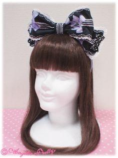 AP Jewel Ribbon Headbow in Lavender