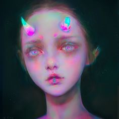 Digital illustrations by Yanjun Cheng - Journal of Design - Yanjun Cheng is a digital artist and illustrator who lives and works in New York. His images are of - Pretty Art, Cute Art, Pretty Girls, Art Et Illustration, Illustrations, Bel Art, Arte Grunge, Look Wallpaper, L'art Du Portrait
