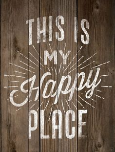 Ebern Designs 'This Is My Happy Place' Textual Art on Wood Diy Signs, Wall Signs, D House, Pallet Art, Pallet Boards, Chalkboard Art, My Happy Place, Wooden Signs, Wood Art
