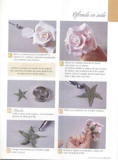 Todo Flores de Porcelana Fria: Rosas en porcelana fria Paso a paso 05