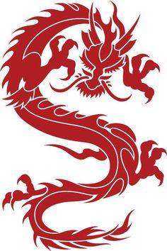 Asian Dragon Body vinyl decal