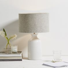 Small Ceramic Bottle Lamp | The White Company