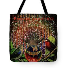 Electromagnetic Tote Bag featuring the digital art Rio De Janeiro Summer 2016 by Joseph Mosley