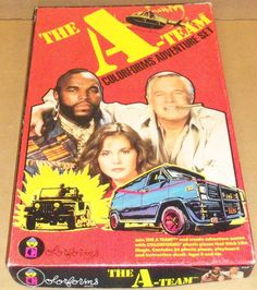 COLORFORMS: 1983 The A-Team Adventure Set, and I STILL have these somewhere in my house.