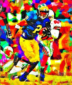 Charles Woodson Fauvism Painting - Virtual Painter 6.