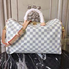 b3e3da1895ae Louis Vuitton Speedy Bandoulière 35 Damier Azur Canvas N41372  Speedy Louis  Vuitton Sneakers