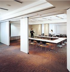 Movable Partition, Library Design, Office Interiors, Conference Room, Building, Table, Furniture, Home Decor, Decoration Home