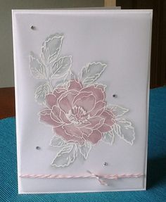 handmade greeting card ... Beautiful Day set by Altenew ... looks like white embossed lines on velum with sof coloring behind ... then fussy cut and adered to card front ... delicate look ...