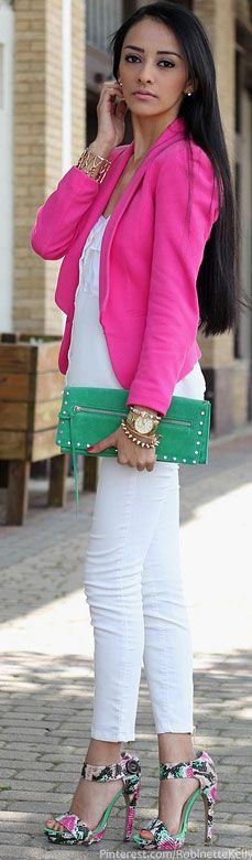 Street Style,  Maytedoll | Blazer:H Top: Forever 21 Skinny Jeans: Shoes:Shoedazzle Clutch: Banana Republic