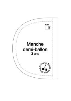 Patron de ma manche demi-ballon pour enfant - Alice Balice - couture et DIY loisirs créatifs Creation Couture, Ballon, Diy Clothes, Alice, Chart, Sleeve Pattern, Kids Outfits, Creative Crafts, Gowns