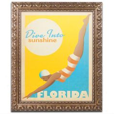Dive into Sunshine II by Anderson Design Group Framed Graphic Art