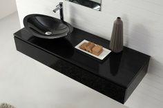 Nero   Wall Hung Black Vanity With Stone Top Basin   Modern   Bathroom  Vanities And Sink Consoles   Brisbane   Nova Deko