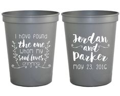 Personalized Wedding Favors Wedding Cups Soul Mate Wedding Favor Cups Wedding Cups Biblical Wedding Favors Song of Solomon Cups 1318 by SipHipHooray