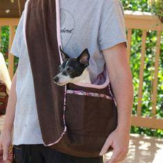 PupPanache's Fleece-lined Dog Carrier – PDF Sewing Pattern Pdf Sewing Patterns, Clothing Patterns, Dog Sling, Dog Carrier, Pet Carriers, Dog Coats, Dog Accessories, Shih Tzu, Small Dogs