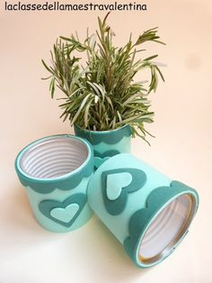 tutorial by dagburger Tin Can Crafts, Foam Crafts, Diy And Crafts, Crafts For Kids, Arts And Crafts, Diy Christmas Presents, Christmas Diy, Recycle Cans, Bottles And Jars