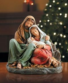 """Avalon Gallery™ celebrates the Holy Family with this beautiful figurine. Each is finely crafted and designed to bring the Christmas story to life as we remember He is the reason for the season. Makes a perfect gift for just about anyone on your Christmas list. Gift boxed.  -- Stoneresin -- 6"""" H"""