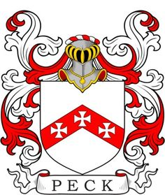 Peck Family Crest and Coat of Arms
