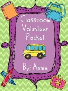 Classroom volunteers are SO important!!! Teachers are full of ideas and it takes volunteers to make it happen!!At the beginning of the year it...