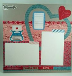 Hilary's Crafts, Close to my Heart Heartstrings paper packet Valentines Day