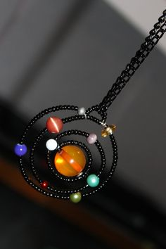 solar system pendant - Google Search