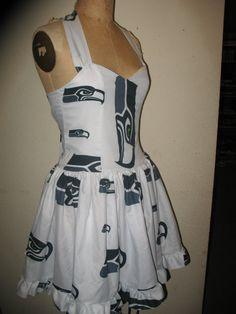 Pin up Seattle Seahawks dress