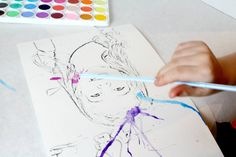Super Fun Watercolor Kids Craft Project That you HAVE to try today! Your Kids will have so much fun doing this!
