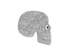 Skull Coloring Page Printable Collage Skull Made of Animals