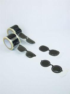 Sunglasses patterned tape.