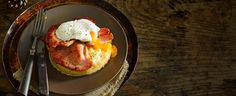 This quick, easy brunch recipe is perfect for lazy weekends - spoil yourself with bacon, eggs AND crumpets