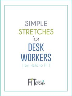 Stretching is such a huge part of your overall health and wellness! If you sit…