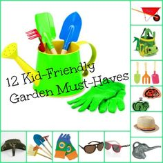 While you tender to your garden, encourage your budding green-thumb to get his hands dirty with these super-cute (and budget-friendly) kids' gardening essentials.