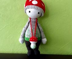 PAUL the toadstool made by Sorina / crochet pattern by lalylala