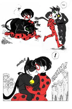 Ranma and Akane and Cat Noir and Ladybug ahhh