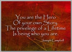 An INSPIRATIONAL Quote by Joseph Campbell  5 x by tornpaperquotes, My favorite quote.