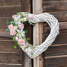 Hydrangea / Svadobné srdce s ružami Grapevine Wreath, Grape Vines, Wreaths, Home Decor, Art, Art Background, Decoration Home, Room Decor, Vineyard Vines