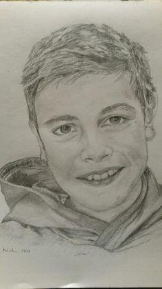 Mein Sohn. Bleistiftskizze mit 2b Bleistift