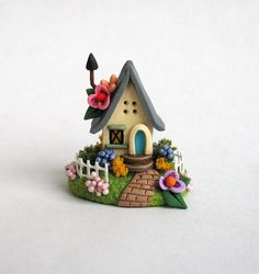 Miniature  Charming Fairy Whimsy Cottage  OOAK by ArtisticSpirit