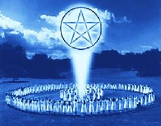 A Magick Circle is circle or sphere of space marked out by Witches and other practitioners of ritual magick. The Circle is known to contain energy and form a sacred space.