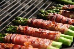 Crispy Prosciutto Wrapped Asparagus from the Grill: Grilled Prosciutto Wrapped Asparagus