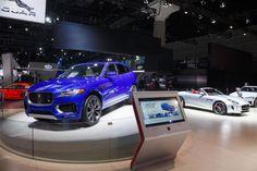 Jaguar F-pace indigo blue color