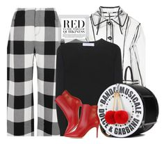 """""""To The Beat Of My Own Drum"""" by hollowpoint-smile ❤ liked on Polyvore featuring Miu Miu, Marques'Almeida, Victoria Beckham, Gianvito Rossi and Dolce&Gabbana"""